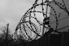 The End 365/365 (PaulJHopkins) Tags: street abstract monochrome barbedwire 365 barbed razorwire keepout project365 365project