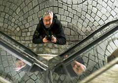 Triple Me (guenther_haas) Tags: 3 selfportrait me mirror spiegel olympus 60mm ich reflexion triple spiegelung selbstportrait f28 ulm omd pflaster highiso drei pflastersteine em5 dreimal mzuiko
