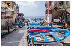 Boats, boats, boats, boats, boats, boats..... (Torbjrn Tiller) Tags: blue italy boats cinqueterre riomaggiore