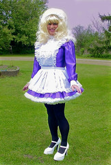 Maid posing (jensatin4242) Tags: sissy transvestite maid crossdresser petticoat sissymaid jensatin