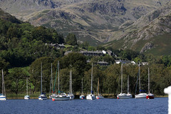Coniston Sailing Club (lens buddy) Tags: uk lake boat lakedistrict steam cumbria gondola coniston bluebirdcafe canoneosdigital lakeconiston steamgondola
