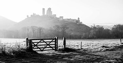 Frosty Morning (steveS999) Tags: mist castle sunrise dawn dorset corfe purbeck