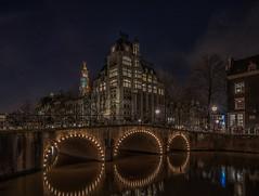 Keizersgracht, Amsterdam (R@inier) Tags: longexposure nightphotography amsterdam architecture canal nederland streetphotography grachten noordholland canalhouses grachtengordel grachtenpand