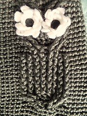 Owl Cocoon (Karla Twomey) Tags: baby cable owl sack cocoon bunting crohet