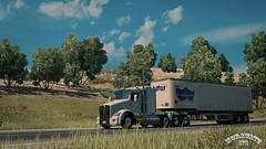 ats_00212 (ets2.morawatz) Tags: california road game truck screenshot artwork skin transport trailer tnt semitruck trucking ats kenworth t800 usfholland hollandmotorexpress americantrucksimulator