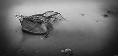 Mangled and Forgotten (Chris Noronha) Tags: ocean longexposure blackandwhite bw white lake seascape ontario canada black art shopping landscape mono garbage nikon rocks forgotten nd scarborough cart bluffs lakeontario d90 10stop cnphotography