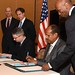 Deputy Secretary Blinken Looks on as an Agreement is Signed to Establish Djibouti's First American Curriculum, English Language School