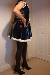 DSCF0007 (latexhelen) Tags: stockings panties fetish french tv uniform dress slut cd rubber crossdressing sissy tranny transvestite heels latex trans maid crossdresser maids kinky slutty