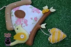 Enfeite de porta/parede  (ovelhanegra_toys) Tags: bird art handmade artesanato marriage felt maternity casamento feltro artes maternidade manualidades mbile passarinhos fieltro feltcraft feitoamo ovelhanegratoys