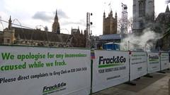 Frack & Go in Parliament Square #frackminster (Julie Ramsden) Tags: westminster greenpeace parliamentsquare fracking frackandgo