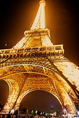Light the Night! (Herculeus.) Tags: city portrait paris france tower blackbackground architecture night oct towers eiffeltour 2015 5photosaday architectureinpixels