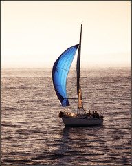 Blue (compeer) Tags: sunset sea howth irish boat waves sailing sail comeback irishsea seaman