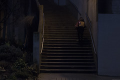Escape (Geoff England) Tags: lighting light night stairs digital dark high twilight natural dusk low grain iso sombre