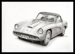 FSO Syrena Sport (Karwik) Tags: car sport pencil pencils drawing syrena samochd owek fso rysunek olowek
