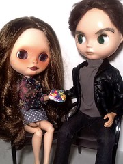 Toy-in-the-Frame Thursday & Blythe-a-Day February #26 Candies: Claudia & Oscar Nominee Tom Hardy