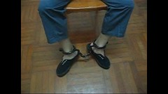 Prisoner handcuffed to chair (asiancuffs) Tags: prison shackles handcuffs prisoner handcuffed