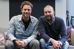 Jelle de Jong & Jeroen Kijk in de Vegte @ Gijs 2.0 (NPO_Radio2) Tags: 2 radio de jeroen lulu 20 gijs jelle npo jong acteur kijk vegte