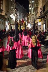 Semana Santa, Cartagena (Murcia) (Eugercios) Tags: santa street pink people espaa spain espanha europa europe gente religion rosa murcia region cartagena semana corderosa procesion catolico procesin capirote