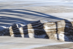 Winter Layers (mpardo.photo) Tags: shadow snow texture sand dune layers stcatharines lightbox portdalhousie lakesidepark cc0 pentaxart 52project2016