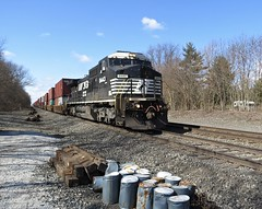 Norfolk Southern Chicago Line / MP 456 East (codeeightythree) Tags: railroad ns mow doublestacks trackmaintenance norfolksouthernrailroad rollingprairieindiana norfolksouthernchicagoline