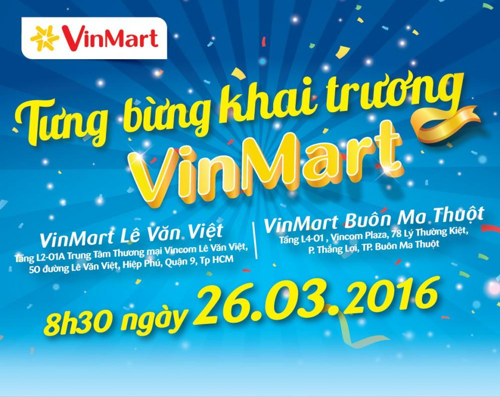 Tưng bừng khai trương siêu thị VinMart Lê Văn Việt và Buôn Ma Thuột