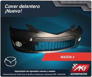 cover bomper delantero mazda 5