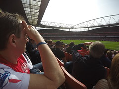 Paul, the Arsenal fan watching one of many of his matches on Emirates!
