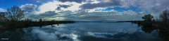 Reflections (Taken with an iPhone) (K.Marinovi - Artist) Tags: panorama lake color reflection art apple water beautiful clouds photoshop wonderful landscape photography photo nice interesting unique smartphone editing lovely lightroom iphone