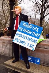 Pinocchio protester at CrushTrump rally, NYC DSC_4304 (Nina Roberts) Tags: nyc protest trump pinocchio ninaroberts crushtrump