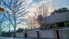 WP_20160318_07_36_13_Raw__highres (madeinfin) Tags: snow brick wall clouds sunrise finland helsinki frosty kulosaari