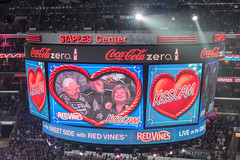 KissCam (mark6mauno) Tags: hockey nhl losangeles los nikon angeles center kings national nikkor staples league scoreboard staplescenter 50mmf14d kisscam losangeleskings nationalhockeyleague d810 nikond810 201516 ar2x3