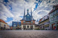 Rathaus von Wernigerode - town hall from Wernigerode (eiljot) Tags: germany deutschland sony rathaus harz kamera fachwerkhaus sachsenanhalt werningerode tudorstylehouse alpha6000 michaeldernbach
