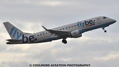 2014_10_25_MAN0114 (COOLMORE PHOTOGRAPHY) Tags: man manchester airport aircraft airliner airliners manchesterairport embraer egcc flybe embraer175 e175 gfbji