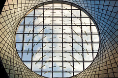 Partly Cloudy Oculus (IntExp7) Tags: nyc newyorkcity ny newyork subway downtown manhattan mta subwaystation lowermanhattan oculus fultonstreet nycsubway downtownmanhattan newyorkcitysubway fultonstreettransitcenter newyorkcitysubwaystation