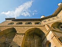San Benedetto # 2 (schreibtnix) Tags: italien sky italy travelling clouds reisen himmel wolken sanbenedetto monastery kloster subiaco olympuse5 schreibtnix