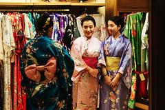 Kimonos and Magic Bands (Allen Castillo) Tags: epcot disney kimono wdw waltdisneyworld worldshowcase nikcolorefex japanpavilion nikon28300 nikond610 kodachrome100filmemulation