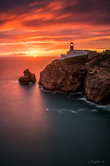 When light meets light... (darklogan1) Tags: longexposure lighthouse seascape portugal rock clouds logan darklogan1
