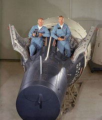 Fifty years ago in 1966, Astronauts Buzz Aldrin and Jim Lovell stand by a mockup of their Gemini XII spacecraft, the final Gemini flight. Aldrin would later be the second man to walk on the moon and Lovell would safely return Apollo XIII to Earth. [2553x3 (Histolines) Tags: moon man history by buzz stand earth walk flight jim 1966 retro mockup astronauts final return be second timeline ago years their would apollo aldrin xii gemini spacecraft later fifty safely lovell xiii vinatage historyporn histolines 2553x3000 httpifttt1mitcj2