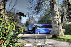 Shearings Coach 207, Bicton Gardens, Devon. (ManOfYorkshire) Tags: blue holiday gardens mercedes tour devon setra tourismo bicton shearings kassbohrer triaxle bk10ejj
