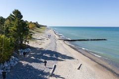 Lake Superior & Beach (Invinci_bull) Tags: lake kite fall michigan fallcolors aerial kap upperpeninsula lakesuperior aerialphotography kiteaerialphotography crisppoint michigansupperpeninsula