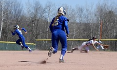 The play is on (stephencharlesjames) Tags: college sports bury women vermont action hamilton softball middle ncaa