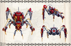 The Buhar Walker Details (burningblocks) Tags: spider lego walker empire ottoman middle eastern mech steampunk moc