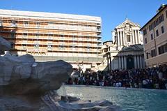 Looking Across The Trevi Fountain To Santi Vincenzo e Anastasio (Joe Shlabotnik) Tags: italy rome roma church fountain italia chiesa trevifountain 2016 afsdxvrzoomnikkor18105mmf3556ged march2016