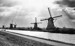 #windmill #Netherlands #Holland #kinderdijk #black #white #sun (Michal Kulesza) Tags: sun white black holland netherlands windmill kinderdijk
