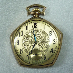 Grandfather's pocket watch, ca. 1924 (Monceau) Tags: pictures gold watch grandfather fancy 116 pocketwatch 1924 odc 2016 wmg abouttime 114watchorwatches