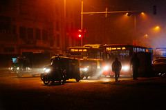 Red Lights Spell Danger (hkokko) Tags: city morning red india early traffic delhi transport redlight olddelhi