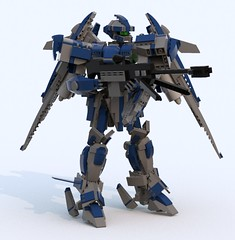 Versailles III R(I) (TF Twitch) Tags: blue fiction mobile digital lego designer render science suit scifi fi gundam armored core sci mecha mech ldd blacktron bluerender