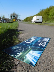 Mag un-mounted (stevenbrandist) Tags: road sign leicestershire taxi magnetic birstall wanlip