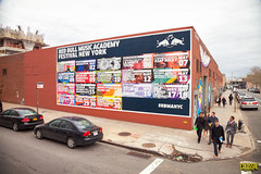Red Bull Music Academy (Always Hand Paint) Tags: nyc brooklyn advertising mural colorful outdoor williamsburg ooh handpaint redbull colossal streetlevel cpg rbma redbullmusicacademy colossalmedia muraladvertising b145 skyhighmurals alwayshandpaint