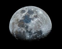 Almost full moon (Bas Witkop) Tags: sky moon night canon dark stars star space astro stack telescope astrophotography astronomy universe lunar sattelite stacked astrophoto astrometrydotnet:status=failed astrometrydotnet:id=nova1523687